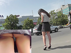 upskirt thongs